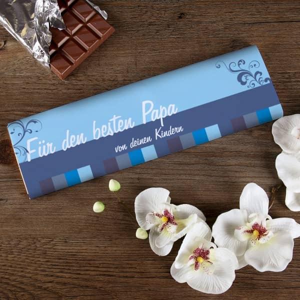 XL Schokolade für den besten Papa mit Wunschtext