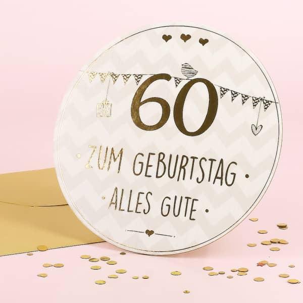 Stand Up Glückwunschkarte zum 60. Geburtstag