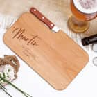 Messerbrett aus Holz mit moderner Wunschgravur