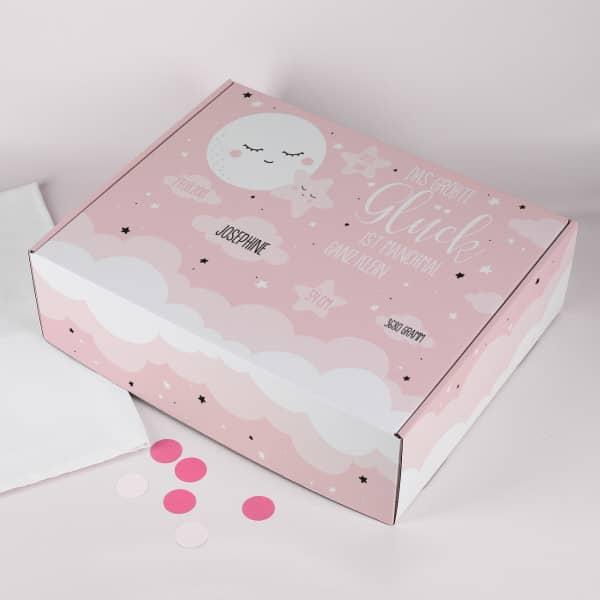 Geschenkbox zur Geburt für Mädchen ''Das größte Glück''