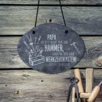 Du bist der Hammer! - Schieferplatte mit Gravur