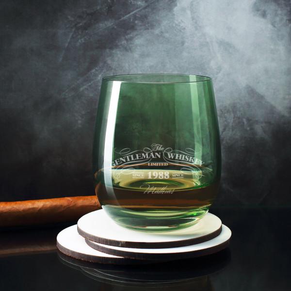 Gentleman Whiskeyglas graviert mit Name und Jahr