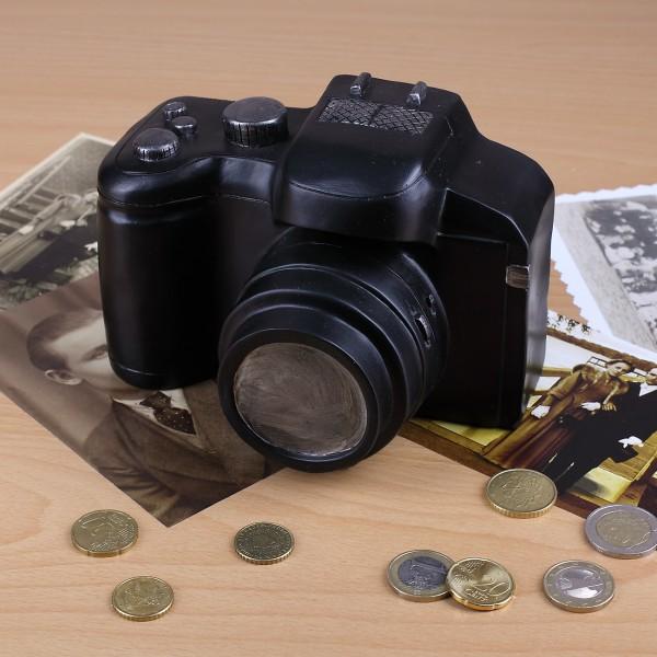 Spardose in Form einer Kamera