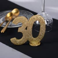 Goldene Dekozahl 30 - zum Geburtstag