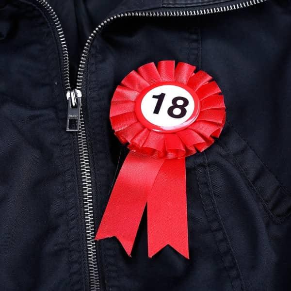 Geburtstags-Button zum 18.