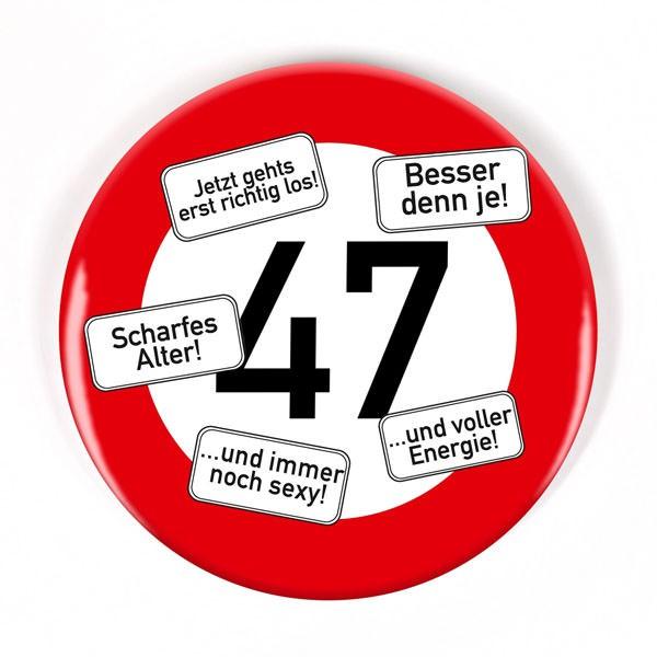 Button zum 47. Geburtstag
