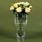 Große Vase mit Namen und Datum graviert