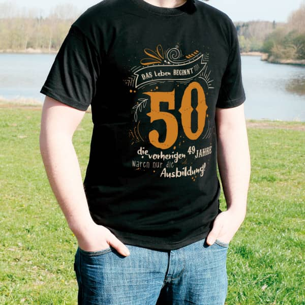 T-Shirt - Das Leben beginnt mit 50