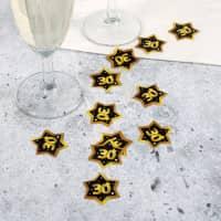 Konfetti zum 30. Geburtstag - Star in Gold und Schwarz