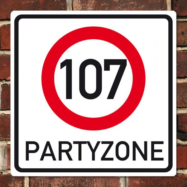 PVC-Banner zum 107. Geburtstag