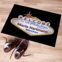 personalisierte Fußmatte im Las Vegas-Look