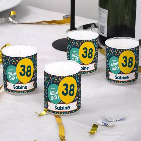 Tischdekoration zum Geburtstag - 4er Set