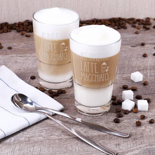 Latte Macchiato 2-er Set mit Gravur