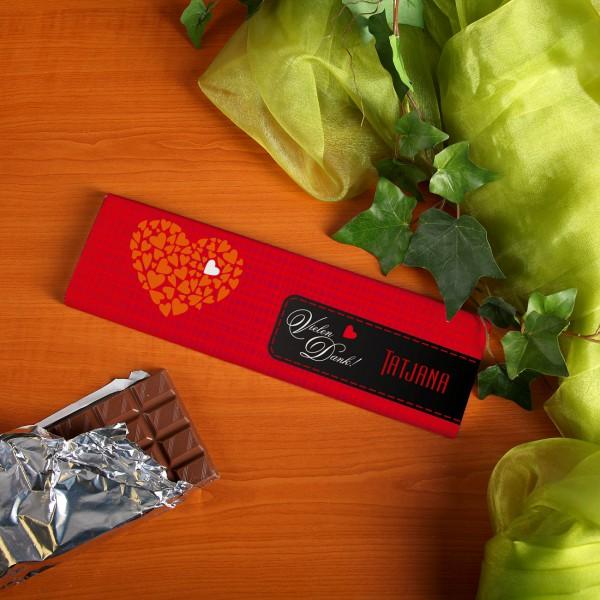 Vielen Dank Schokolade mit Wunschnamen