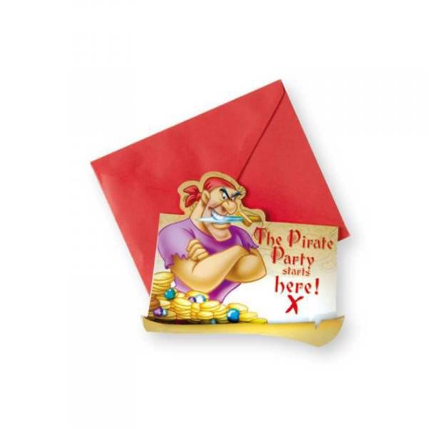 Einladungskarten Pirat