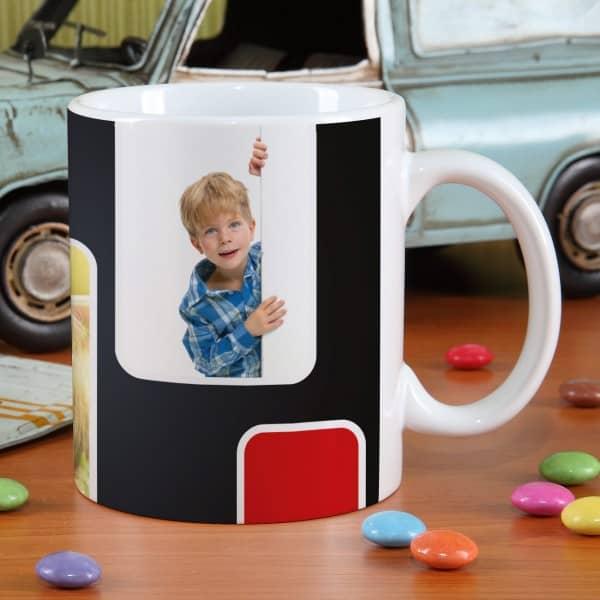 Individuelle Tasse mit moderner Foto Collage