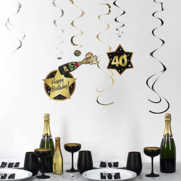 Party Dekoration Star zum 40. Geburtstag