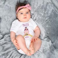 Babybody mit Knuddelhorn und Wunschname