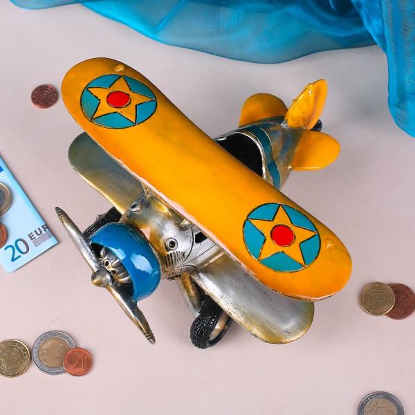 Dekofigur nostalgisches Flugzeug