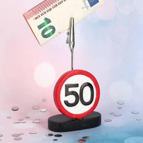 Geldclip zum 50. Geburtstag