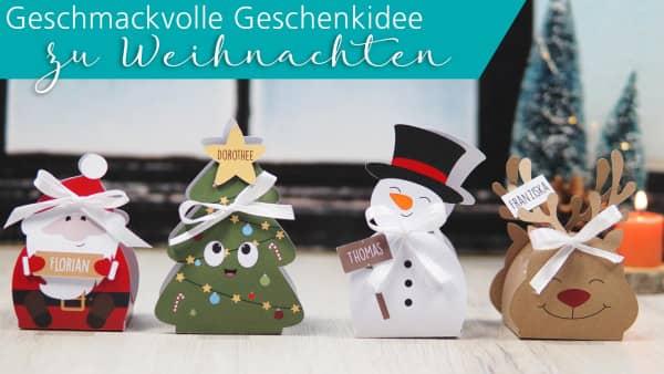 Weihnachtsgeschenke - gefüllte Pralinenschachteln mit köstlicher Lindor-Füllung