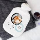 Foto-Wärmflasche in weiß als persönliches Geschenk