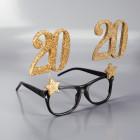 Party-Brille mit goldenen Zahlen - 20