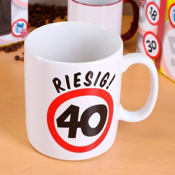Keramiktasse XXL zum 40. Geburtstag