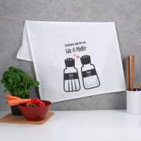 Geschirrtuch Salz und Pfeffer für Paare