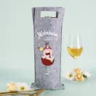 Weinhorn Flaschenbeutel aus Filz mit Knuddelhorn und Name