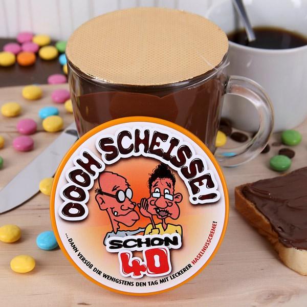 Schokolade im Glas zum 40.
