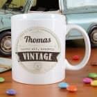personalisierte Tasse zum Geburtstag - Nicht alt, sondern vintage!