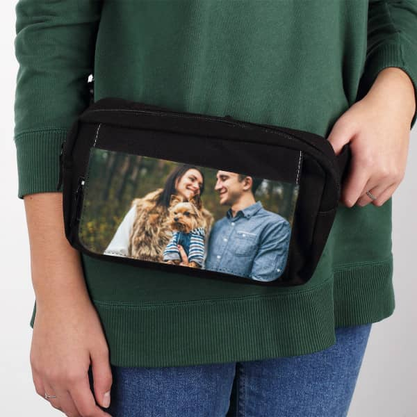 Individuellfotogeschenke - Schwarze Gürteltasche mit Fotoaufdruck - Onlineshop Geschenke online.de