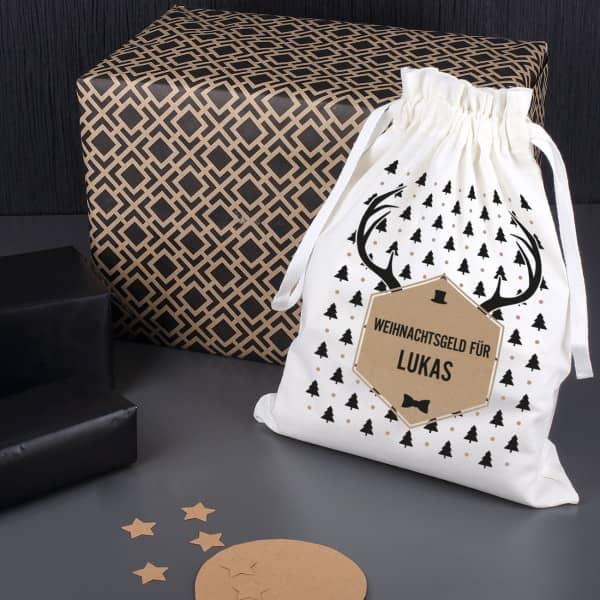 Weihnachtlicher Geschenksack Als Verpackung Oder Geldgeschenk Fur Manner
