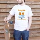 Männer-T-Shirt mit Spaßaufdruck über das Alter und seine Begleiterscheinungen
