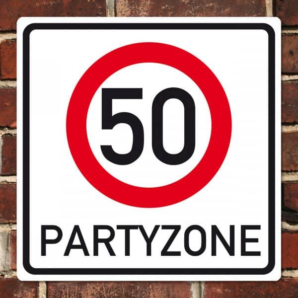 Verkehrsschild Schild Zum 50 Geburstag