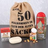 Lustiges Geburtstagsgeschenk Set für Männer zum 50. (4-teilig)