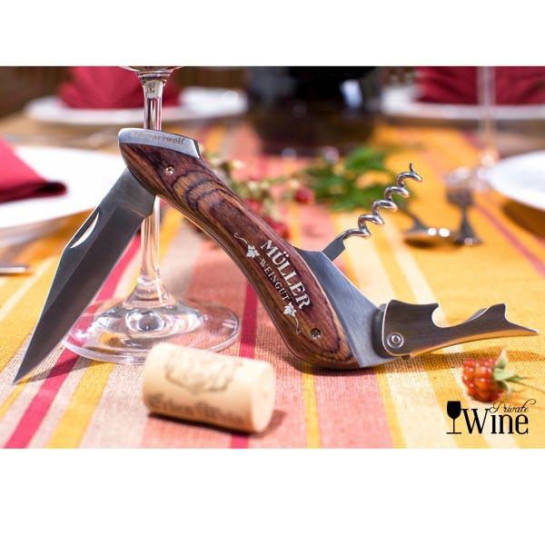 Weinmesser mit Gravur