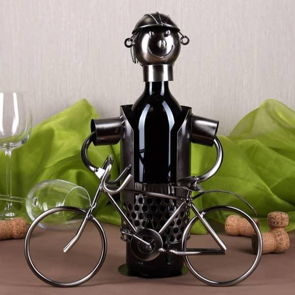 Flaschenhalter aus Metall - Fahrradfahrer