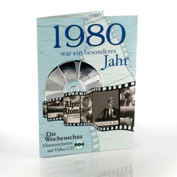 Geburtstagskarte mit historischen Ausschnitten 1980