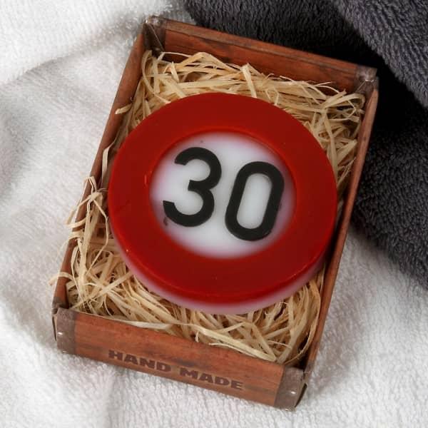 feste Handseife zum 30. Geburtstag