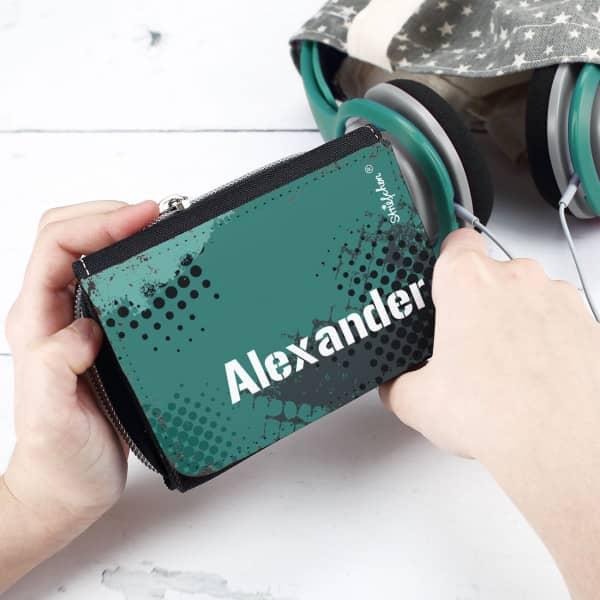 personalisiertes Portemonnaie für Teenager mit dem Namen