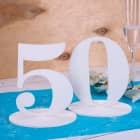 Tischnummer 50 für Geburtstag oder Goldene Hochzeit