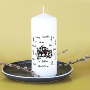 Kerze für Familien mit Namen
