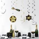 Party-Deko-Spiralen zum 30. Geburtstag - Star
