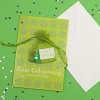 Geburtstagskarte mit ganz viel Glück - Säckchen