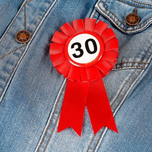 Glückwunsch - Rosette - 30