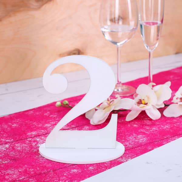 Zahl 2 für Ihre Tischdekoration