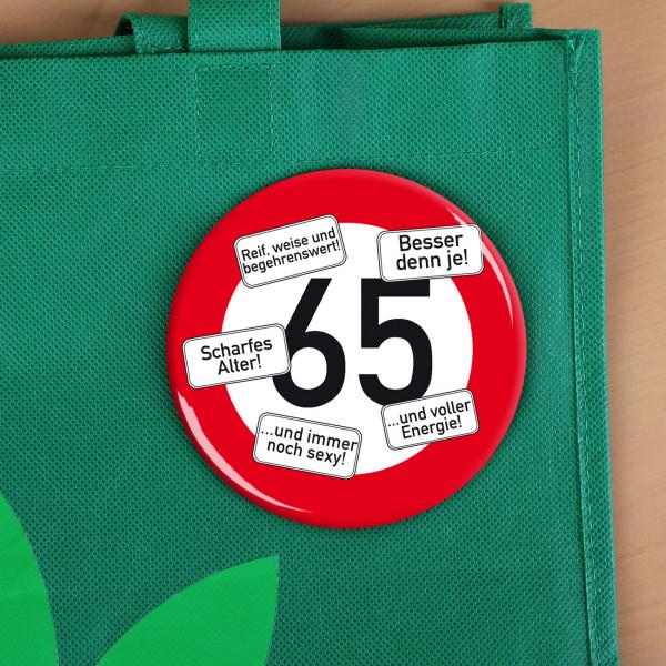 Button zum 65. Geburtstag