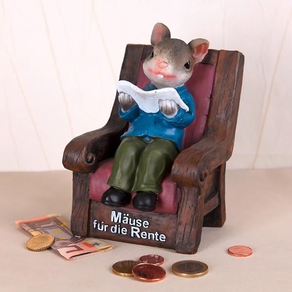 Spardose Mäuse für die Rente